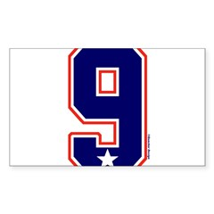 US(USA) United States Hockey 9 Sticker (Rectangula Sticker (Rectangle 50 pk)