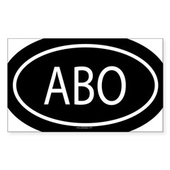 ABO Oval Sticker (Rectangle 50 pk)