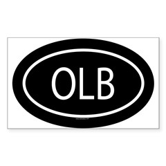 OLB Oval Sticker (Rectangle 50 pk)