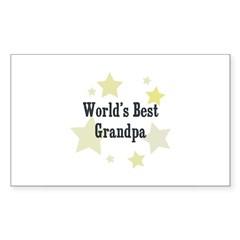 World's Best Grandpa Rectangle Sticker (Rectangle 50 pk)
