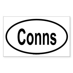 CONNS Oval Sticker (Rectangle 50 pk)