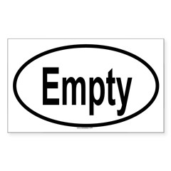 EMPTY Oval Sticker (Rectangle 50 pk)