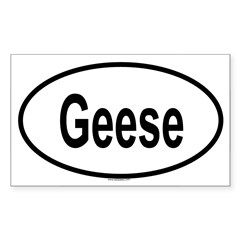 GEESE Oval Sticker (Rectangle 50 pk)