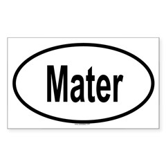 MATER Oval Sticker (Rectangle 50 pk)