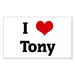 I Love Tony Rectangle Sticker (Rectangle 50 pk)