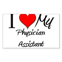 I Heart My Physician Assistant Sticker (Rectangula Sticker (Rectangle 50 pk)