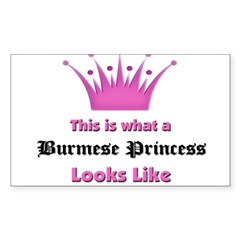 This is what an Burmese Princess Looks Like Sticker (Rectangle 50 pk)