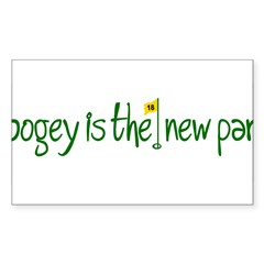 Bogey is the new Par Sticker (Rectangle 50 pk)