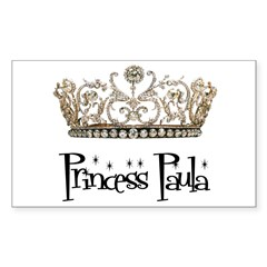 Princess Paula Rectangle Sticker (Rectangle 50 pk)