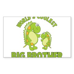 world's coolest big brother dinosaur Sticker (Rectangle 50 pk)