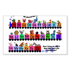 Alphabet Train Rectangle Sticker (Rectangle 50 pk)
