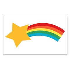 Retro Shooting Star Rectangle Sticker (Rectangle 50 pk)