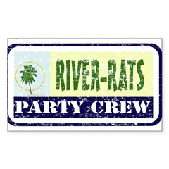 River Rat Rectangle Sticker (Rectangle 50 pk)