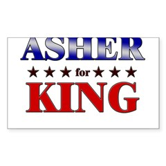 ASHER for king Rectangle Sticker (Rectangle 50 pk)