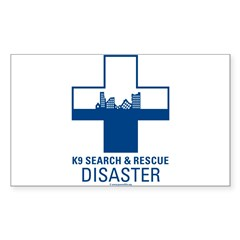 K9 Crosses - Disaster Search Rectangle Sticker (Rectangle 50 pk)