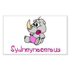 Sydneynocerous Rectangle Sticker (Rectangle 50 pk)