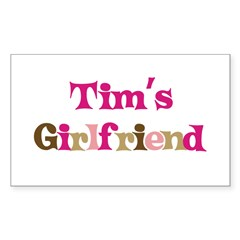 Tim's Girlfriend Rectangle Sticker (Rectangle 50 pk)