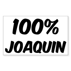 100 Percent Joaquin Sticker (Rectangle 50 pk)