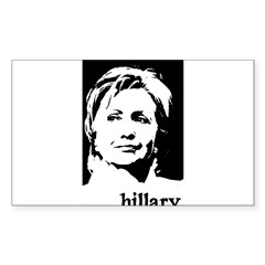 Hillary Clinton Rectangle Sticker (Rectangle 50 pk)