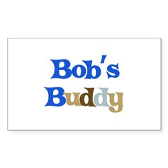 Bob's Buddy Sticker (Rectangle 50 pk)