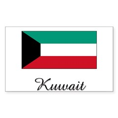 Kuwait Flag Rectangle Sticker (Rectangle 50 pk)
