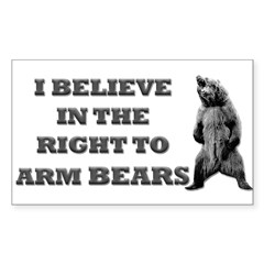 Right To Arm Bears Rectangle Sticker (Rectangle 50 pk)