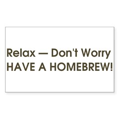 Relax... have a homebrew retro Sticker (Rectangle 50 pk)
