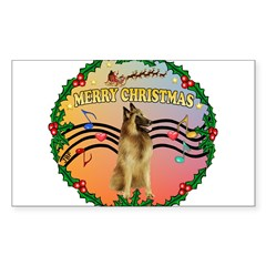 XmasMusic2/Tervuren Sticker (Rectangle 50 pk)