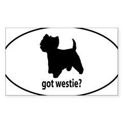 Got Westie? Oval Sticker (Rectangle 50 pk)