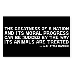 Quote - Greatness - Gandhi Rectangle Sticker (Rectangle 50 pk)