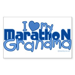 I Love My Marathon Grandma Rectangle Sticker (Rectangle 50 pk)