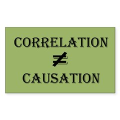 Correlation Causation Sticker (Rectangle 50 pk)