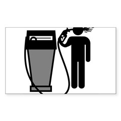 Gas Pump Suicide Rectangle Sticker (Rectangle 50 pk)