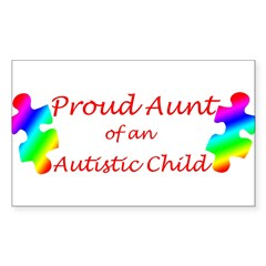 Autism Aunt Sticker (Rectangle 50 pk)
