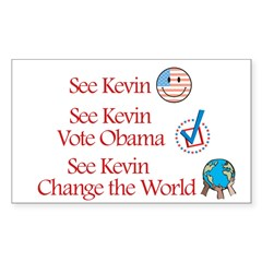 See Kevin Vote Obama Rectangle Sticker (Rectangle 50 pk)