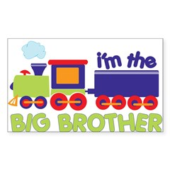 train big brother t-shirts Rectangle Sticker (Rectangle 50 pk)