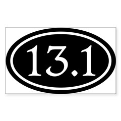 13.1 Half Marathon Oval Sticker (Rectangle 50 pk)