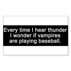 Baseball Vampires Sticker (Rectangle 50 pk)