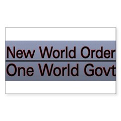 New World Order Truth Sticker (Rectangle 50 pk)