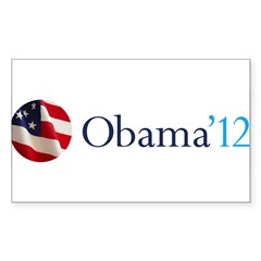 Obama '12 Sticker (Rectangle 50 pk)