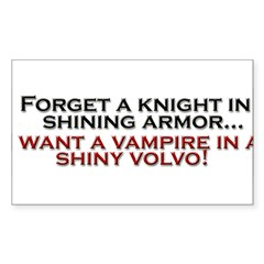 Shiny Volvo Sticker (Rectangle 50 pk)