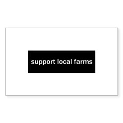 Support Local Farms Sticker (Rectangle 50 pk)
