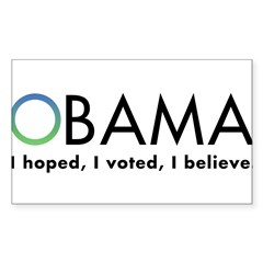 Obama, I believe Sticker (Rectangle 50 pk)