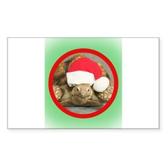 Tortoise, round image Sticker (Rectangle 50 pk)