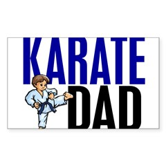 Karate Dad (OF BOY) 3 Rectangle Sticker (Rectangle 50 pk)