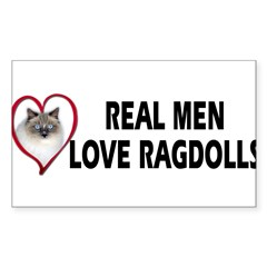 Real Men Love Ragdolls Sticker (Rectangle 50 pk)