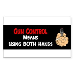 Anti Gun Control Sticker (Rectangle 50 pk)