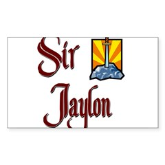 Sir Jaylon Rectangle Sticker (Rectangle 50 pk)