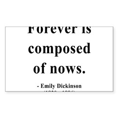 Emily Dickinson 3 Sticker (Rectangle 50 pk)