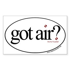 Got Air? Oval Sticker (Rectangle 50 pk)